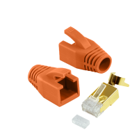 CAT 7 Verlegekabel variable Länge 500m Werkzeugset + 10x Vergoldet RJ45 Netzwerkstecker