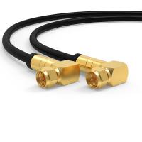 HD Sat Koax kabel Digital TV 135dB 2x 90° Winkel F-Stecker Antennenkabel UHD