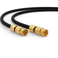 HD Sat F Quick Schnell Stecker 135dB Digital Antennen Koax kabel Routerkabel UHD