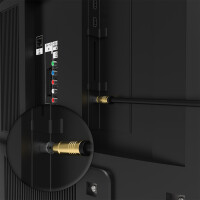 Antennenkabel Digital TV Kabel 135db Koax Stecker Buchse VERGOLDET HD 4K 3D UHD Weiß 20m