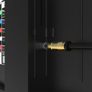 HD Antennenkabel Digital TV Kabel 135db 90° Koax Stecker Buchse VERGOLDET 4K UHD Schwarz 3m