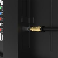 HD Antennenkabel Digital TV Kabel 135db 90° Koax Stecker Buchse VERGOLDET 4K UHD Weiß 1m