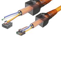 Cat6a Netzwerkstecker RJ45 Stecker Werkzeuglos 10 Gigabit Ethernet