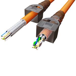 Cat6a Netzwerkstecker RJ45 Stecker Werkzeuglos 10 Gigabit Ethernet 2x