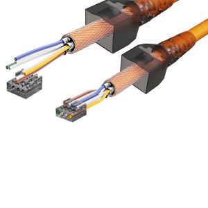 Cat6a Netzwerkstecker RJ45 Stecker Werkzeuglos 10 Gigabit Ethernet 3x