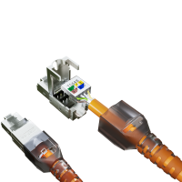 Cat6a Netzwerkstecker RJ45 Stecker Werkzeuglos 10 Gigabit Ethernet 4x