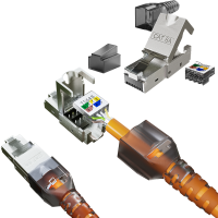 Cat6a Netzwerkstecker RJ45 Stecker Werkzeuglos 10 Gigabit Ethernet 6x