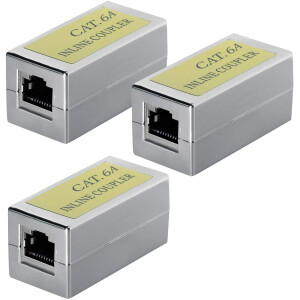 CAT6a Kupplung Verbinder Ethernet Adapter Modular Geschirmt 3x