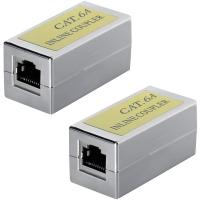 CAT6a Kupplung Verbinder Ethernet Adapter Modular Geschirmt 4x