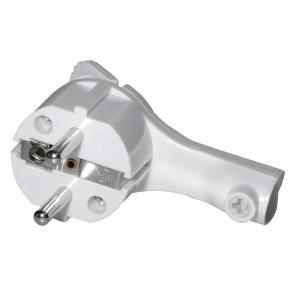 Schutzkontakt Winkelstecker extra flach 8mm Schwarz/Weiß