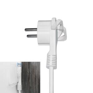 Schutzkontakt Winkelstecker extra flach 8mm Weiß 1x