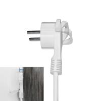 Schutzkontakt Winkelstecker extra flach 8mm Weiß 10x