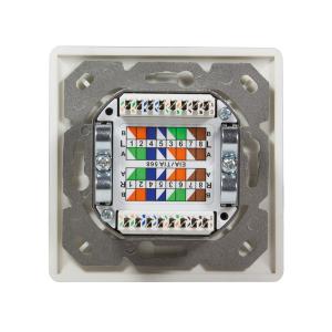 Cat6a Netzwerkdose Werkzeug Set Netzwerk Dose Kabel Aufputz Unterputz Cat 6 LSA 4x Keine Wahl