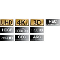 2m High Speed HDMI-Kabel mit Ethernet & ARC Flachkabel