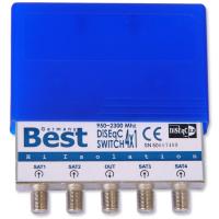 4/1 DiSEqC Schalter 4-1 BEST Germany SAT LNB UMSCHALTER mit Wetterschutz HD TV