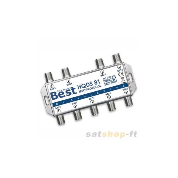 DiSEqC Schalter BEST 8/1 Multiprotokol SAT Umschalter Switch LNB HD