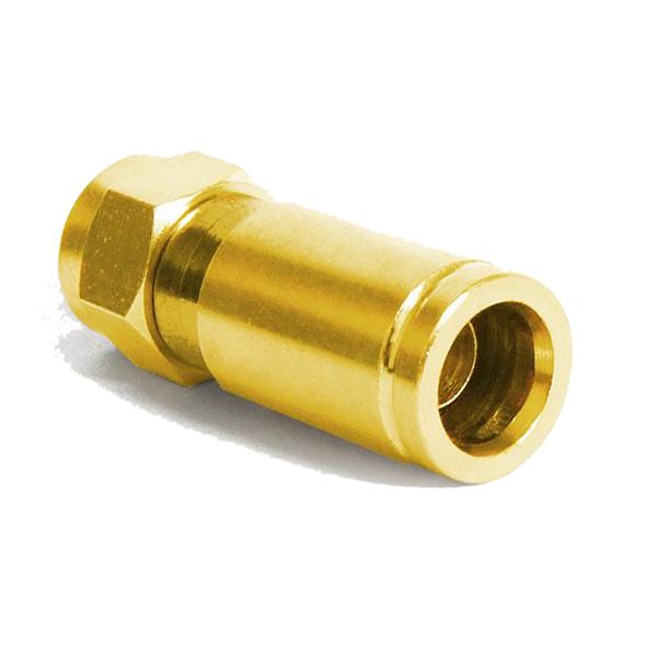 F -Kompression F-Stecker vergoldet - 7-7,2mm 10x