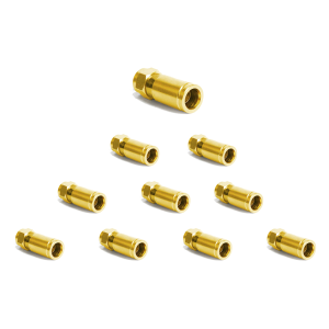 F -Kompression F-Stecker vergoldet - 7-7,2mm 20x