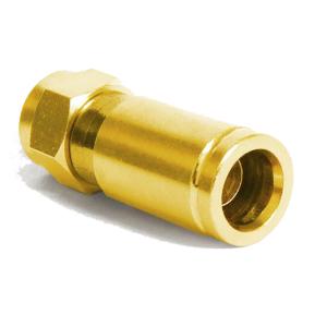 F -Kompression F-Stecker vergoldet - 7-7,2mm 50x