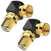 SAT Winkel Adapter Kabel Adapter SAT Koaxial Winkel Stecker auf F-Buchse 2x