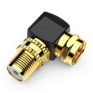 SAT Winkel Adapter Kabel Adapter SAT Koaxial Winkel Stecker auf F-Buchse 4x
