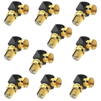 SAT Winkel Adapter Kabel Adapter SAT Koaxial Winkel Stecker auf F-Buchse 10x