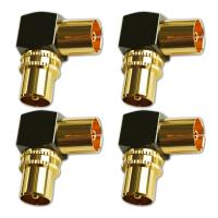 TV Winkeladapter Koax Stecker-Kupplung Antennen Vollmetall 90° Adapter HD