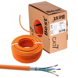 Cat 7 Verlegekabel Netzwerkkabel Simplex Duplex Cat7 Installation Kabel 10Gbit Cat7 Simplex 100m Spule