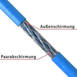Cat 7 Verlegekabel Netzwerkkabel Simplex Duplex Cat7 Installation Kabel 10Gbit Cat8.1 100m Spule