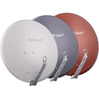 Sat Spiegel Schüssel DUR-line 75 Select 80cm Alumium ALU Single Twin Quad Octo Sat Schüssel Dur Line Hellgrau