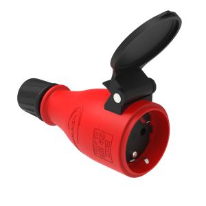 Schutzkontakt Steckdose Gummi Schuko Kupplung IP54 1x