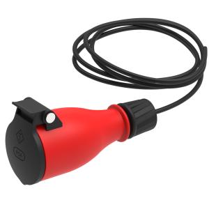 Schutzkontakt Steckdose Gummi Schuko Kupplung IP54 4x
