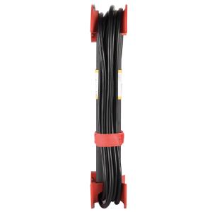 Steckdosenleiste 5-fach Schalter Kabelaufwickler Aufhängevorrichtung Klettband