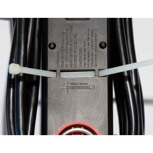 Steckdosenleiste 5-fach Schalter Kabelaufwickler Aufhängevorrichtung Klettband 3m