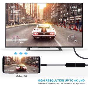 USB-C auf HDMI Adapter 4K UDH Typ C zu HDMI Samsung Galaxy MacBook Huawei Dell