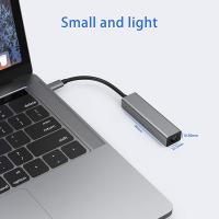 USB HUB USB-C Verteiler Splitter USB3.0 3Port Gigabit Ethernet LAN Adapter RJ45