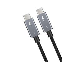 1m Thunderbolt 3 Kabel 40 Gbit/s 100W 5A Laden USB C Stecker / externen SSD eGpu