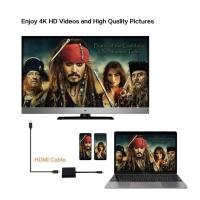 USB-C Typ-C auf USB HDMI HUB Adapter 4K TV PD Kabel zu Macbook Pro Air Samsung Schwarz