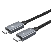 0,7m Thunderbolt 3 Kabel 40 Gbit/s 100W 5A Laden USB C Stecker / externen SSD eGpu